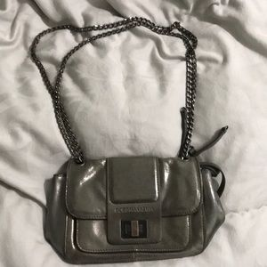 Smoke/grey metallic BCBG MAXAZRIA bag